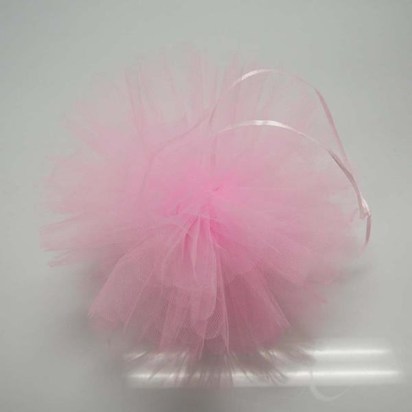 Tulle Pom Poms Ball Centerpiece, 4-Piece, 10-Inch, Light Pink