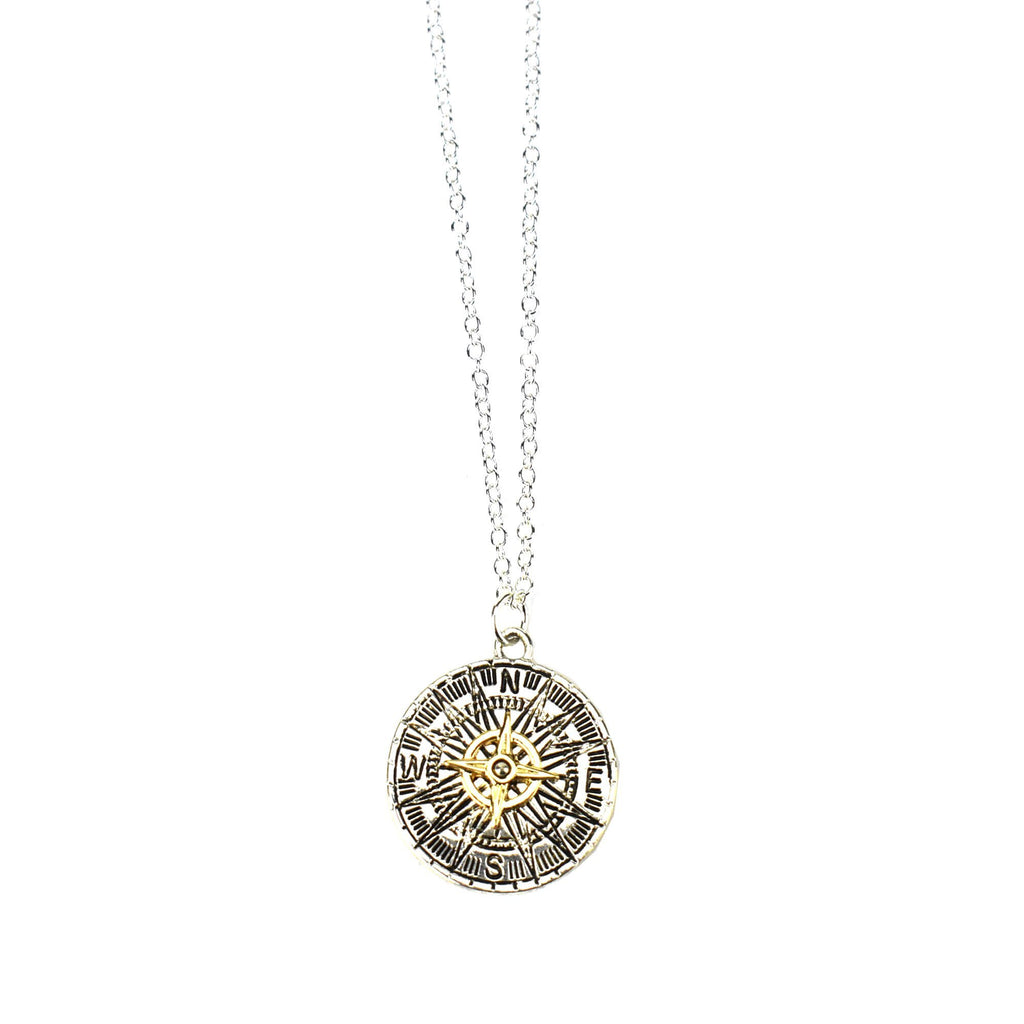 Adventure Compass Party Necklace, 18-1/2-Inch