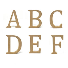 Smooth Pressed Board Wood Serif Letter, Natural, 5-1/8-Inch, F