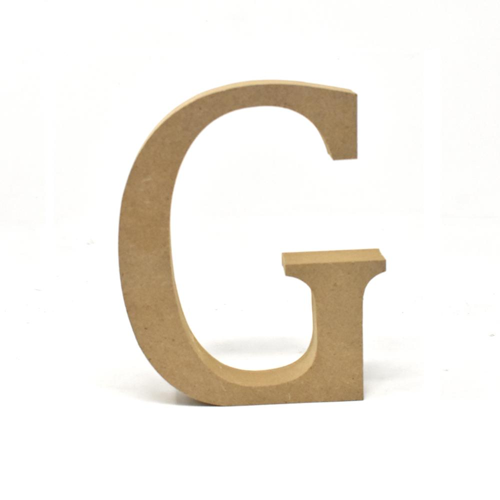 Smooth Pressed Board Wood Serif Letter, Natural, 5-1/8-Inch, G
