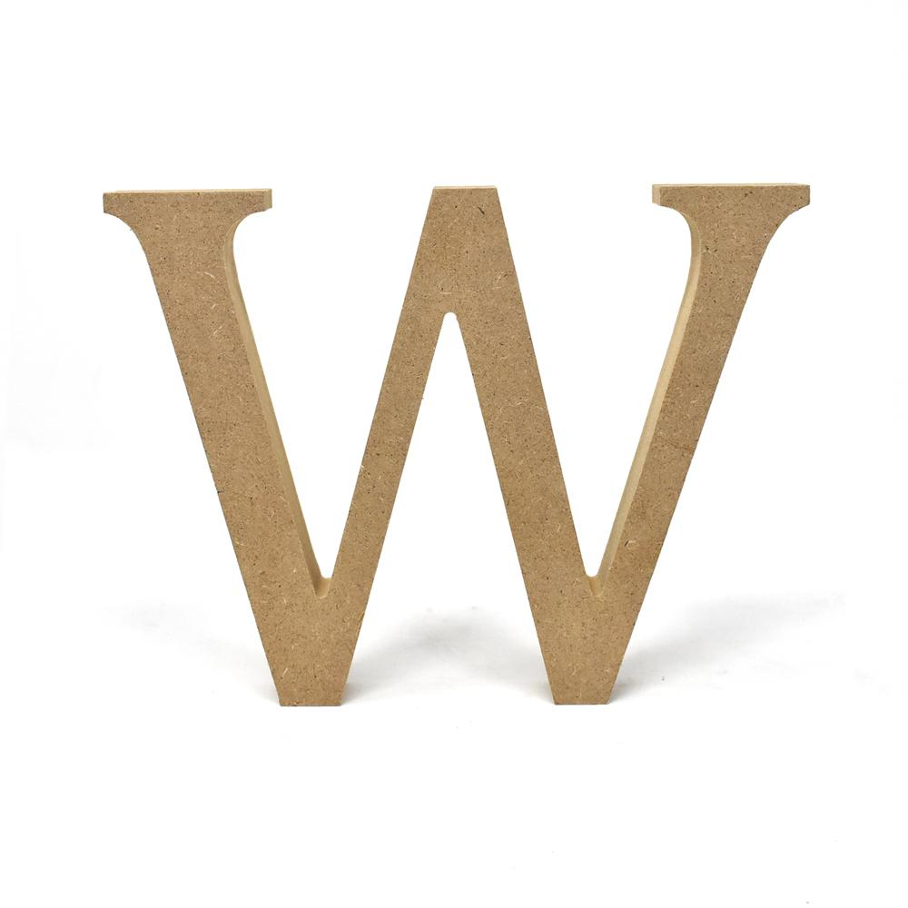 Smooth Pressed Board Wood Serif Letter, Natural, 5-1/8-Inch, W