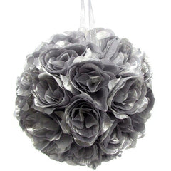 Silk Flower Kissing Balls Wedding Centerpiece, 10-Inch