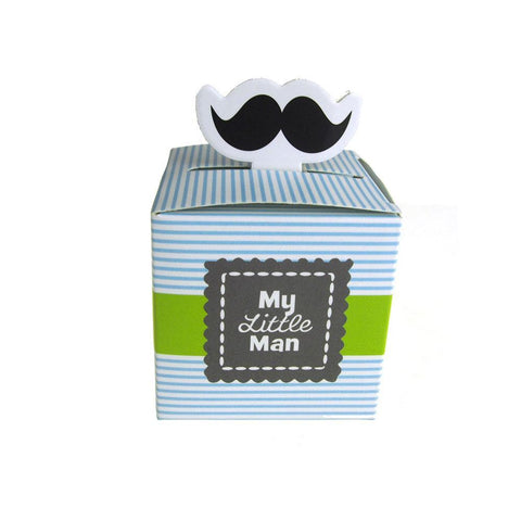 Mustache Baby Shower Favor Boxes, 2-1/4-Inch, 12-Piece