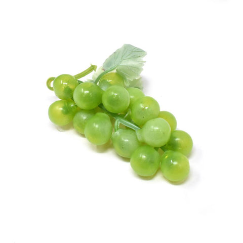 Artificial Grapes Bunch, Green, 3-Inch, 12-Piece