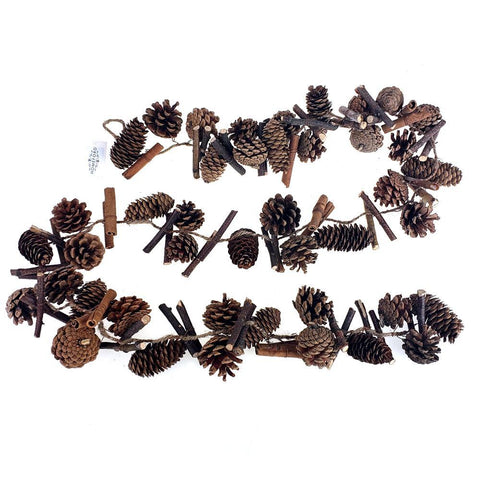 Christmas Mixed Pine Cones Garland, 6-Feet