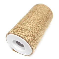 Faux Burlap Roll Frayed Edge, 6-inch, 10-yard
