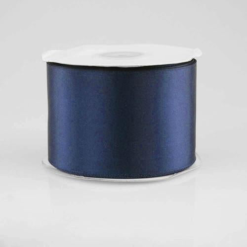 Double Faced Satin Ribbon, 2-1/2-inch, 25-yard, Navy Blue