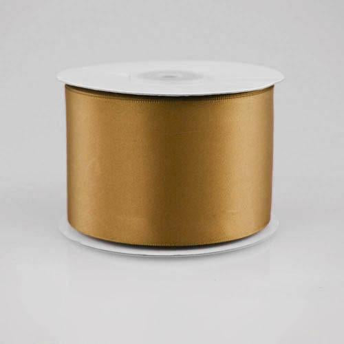Double Faced Satin Ribbon, 2-1/2-inch, 25-yard, Old Gold