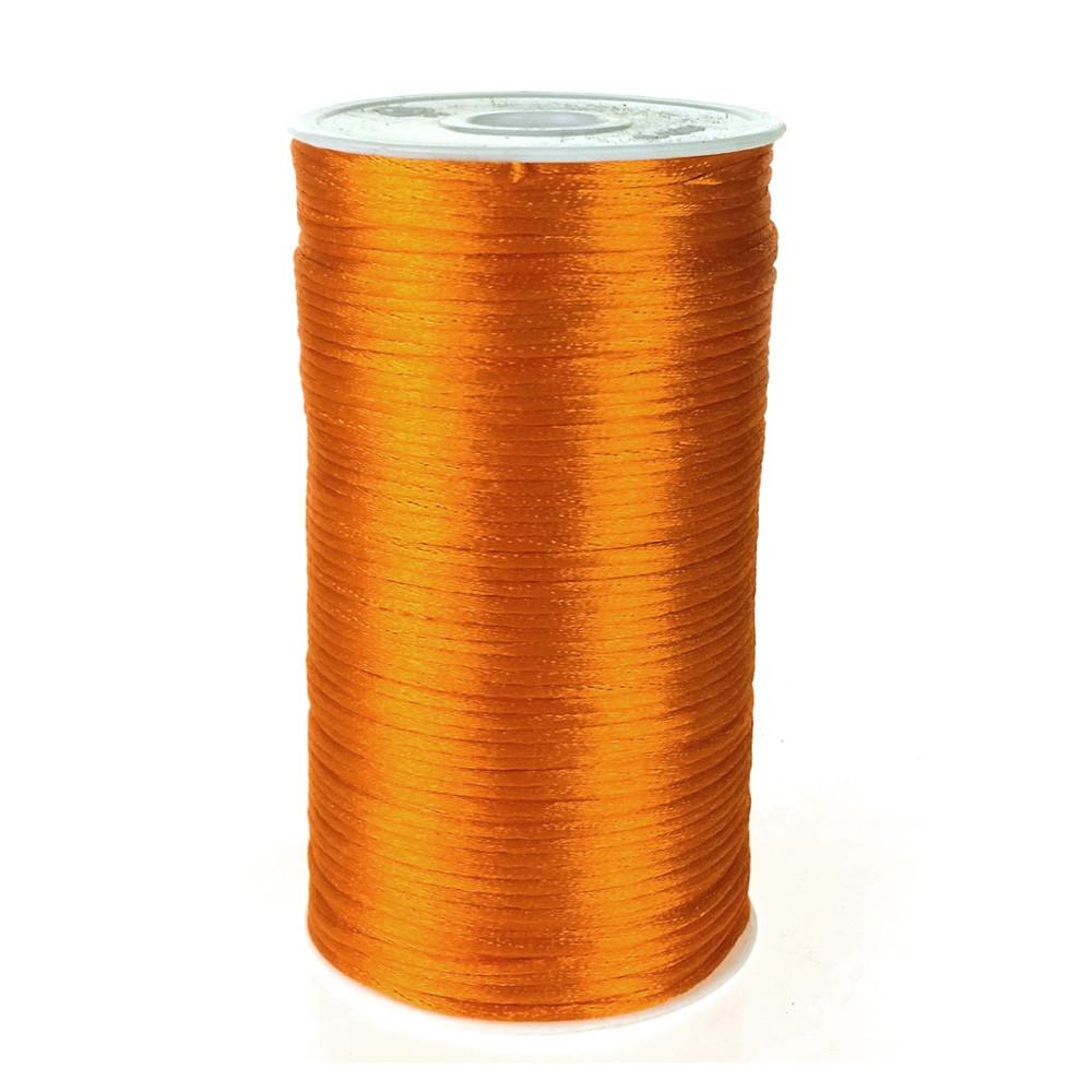 Satin Rattail Cord Chinese Knot, 1/16-Inch, 200 Yards, Orange