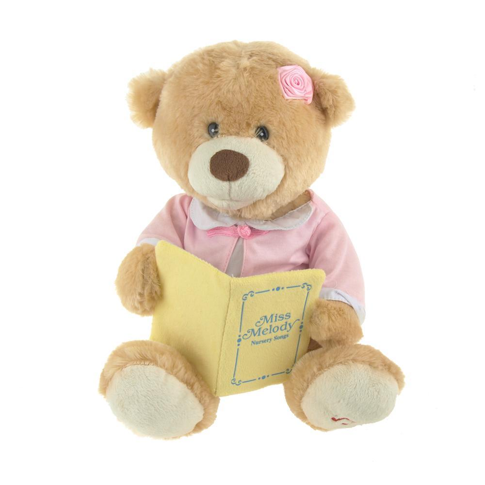 Miss Melody Singing Teddy Bear, Multi-Color, 11-Inch