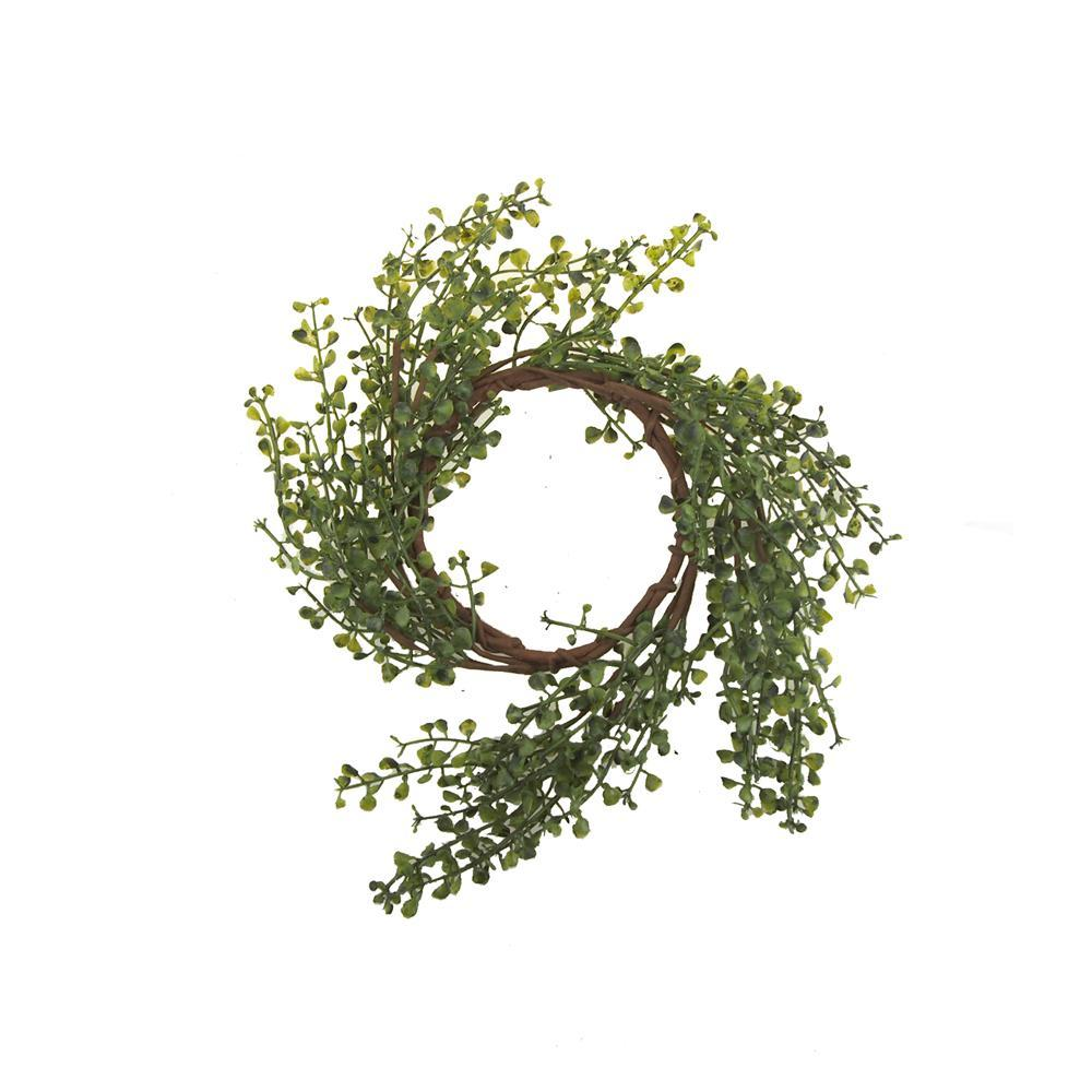 Artificial Peppergrass Candle Ring, 14-1/4-Inch