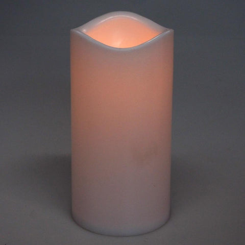 Flameless Plastic Candle LED Light, Ivory, 5-1/2-Inch