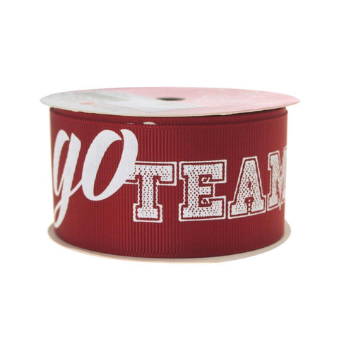 Go Team Sports Grosgrain Ribbon, 1-1/2-Inch, 3 Yards, Wine