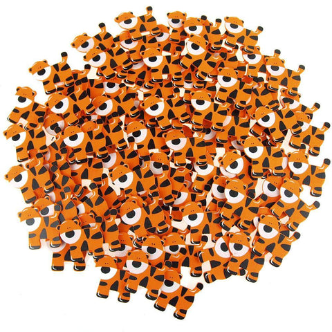 Small Tiger Animal Wooden Baby Favors, 1-1/2-Inch, 100-Piece