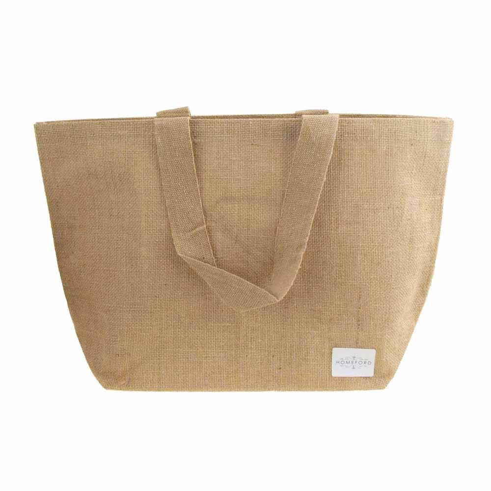 Natural Burlap Tote Beach Bag, 20-Inch