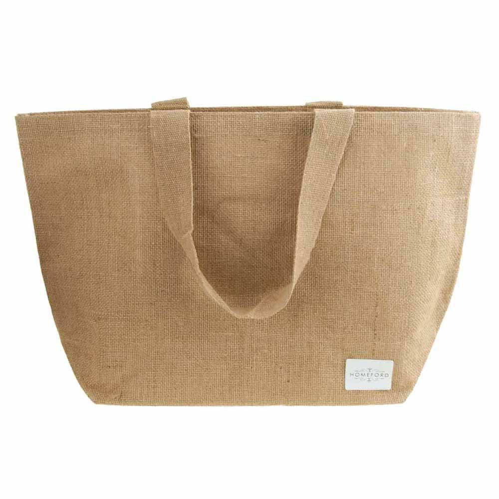 Natural Burlap Tote Beach Bag, 22-Inch