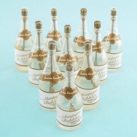 Wedding Champagne Bottle Bubbles, 3-1/2-inch, 24-Piece