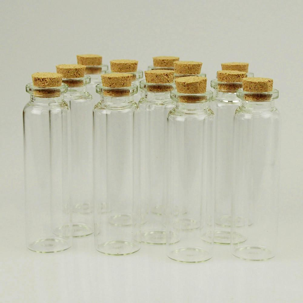 Mini Corked Jars Tube Bottle Favors, 12-Piece, 3-1/2-inch