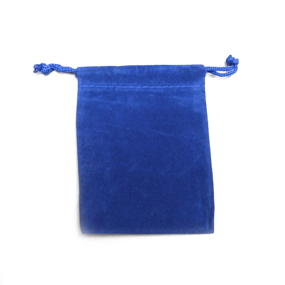 Velvet Jewelry Pouch Gift Bags, 25-Piece, 3-inch x 4-inch, Royal Blue