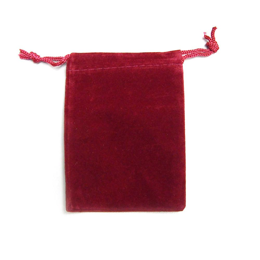 Velvet Jewelry Pouch Gift Bags, 25-Piece, 3-inch x 4-inch, Red