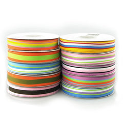 Rainbow Striped Grosgrain Ribbon, 5/8-inch, 25-yard