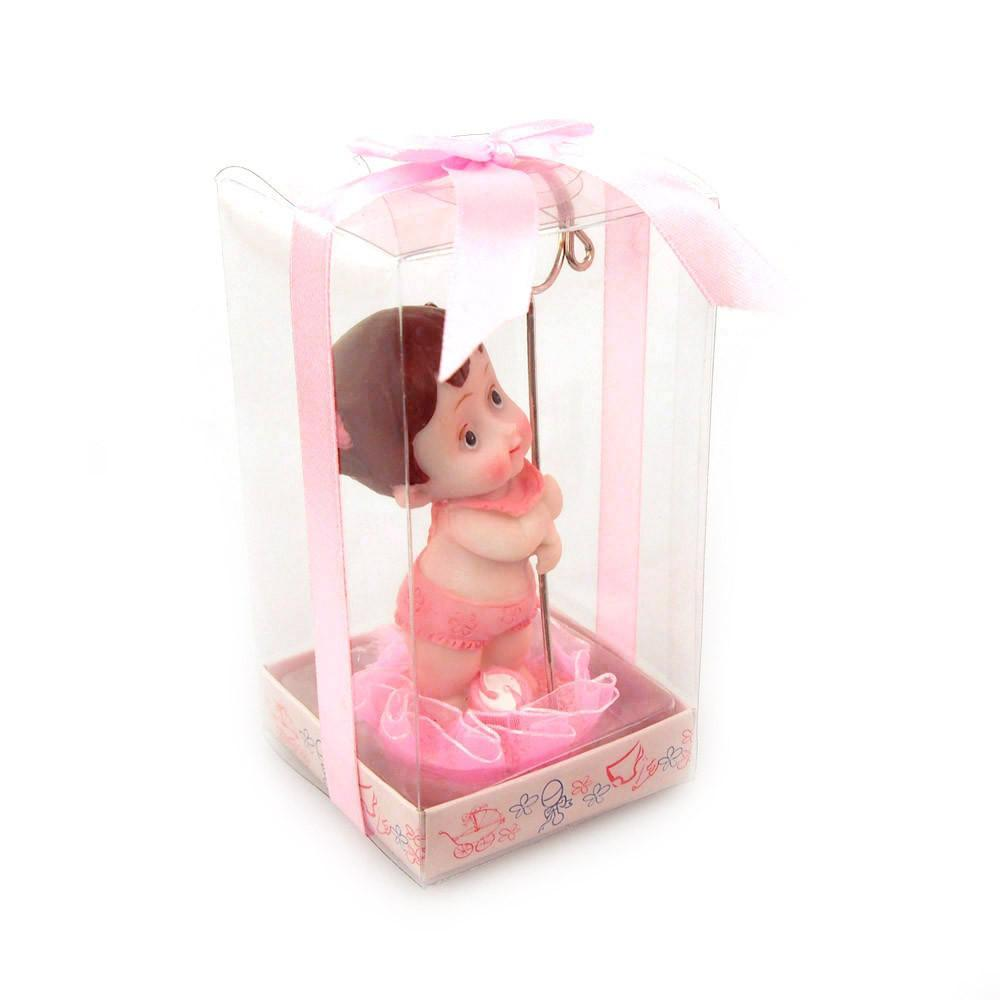 Baby Favors Souvenir, 4-1/2-Inch, Beach Baby, Light Pink