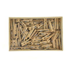 Mini Wooden Clothespins, 1-Inch, 144-Count