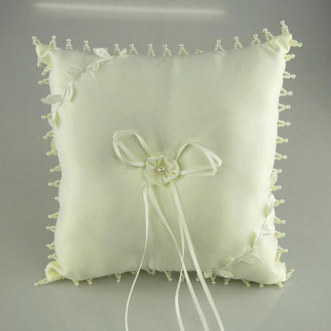 Ring Bearer Satin Pillows Wedding Occassion, 10-inch, Ivory, CLOSEOUT