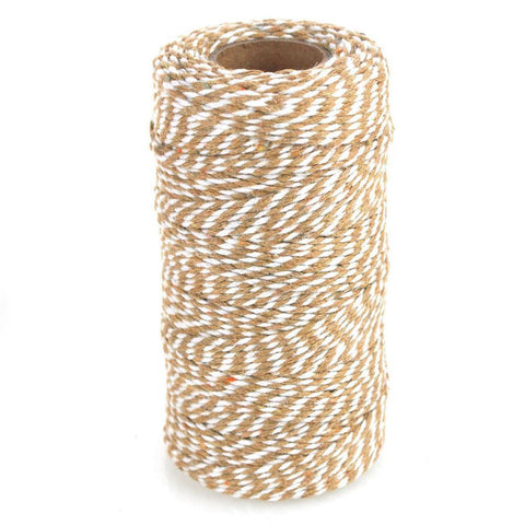 Cotton Bakers Twine Ribbon, 10 Ply, 100 Yards, Natural