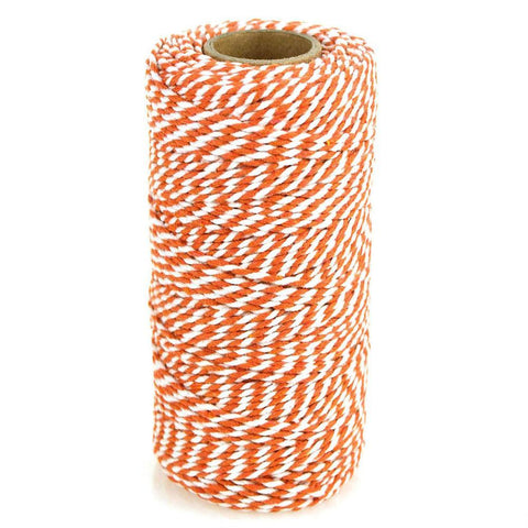 Cotton Bakers Twine Ribbon, 10 Ply, 100 Yards, Orange