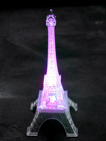 Acrylic Eiffel Tower LED Light, Multi-Color, 10-Inch