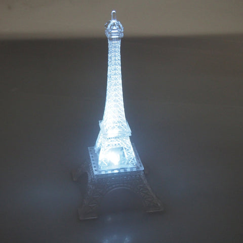 Acrylic Eiffel Tower LED Light, White, 10-Inch