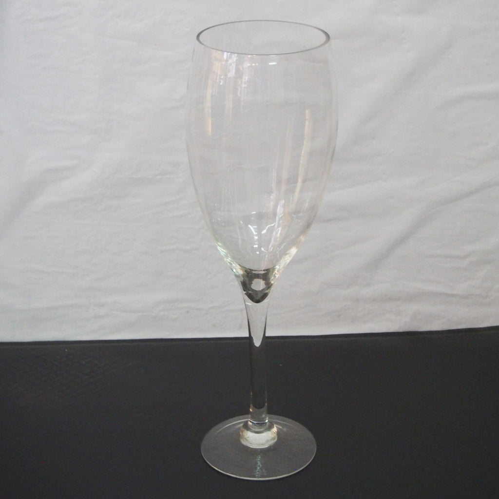 Tall Glass Champagne Vase Wedding Centerpiece