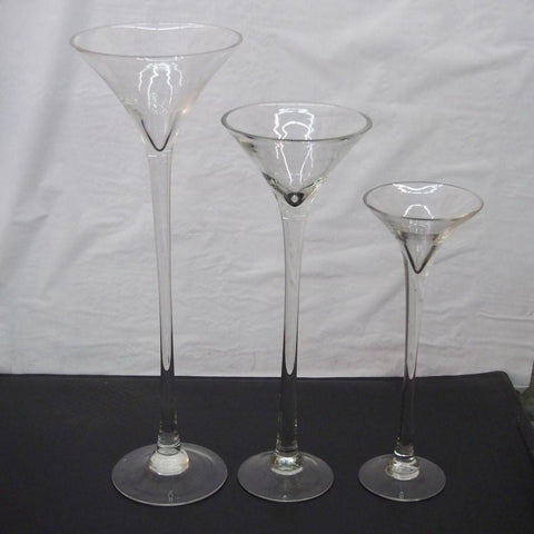Jumbo Martini Glass Vase Wedding Centerpiece
