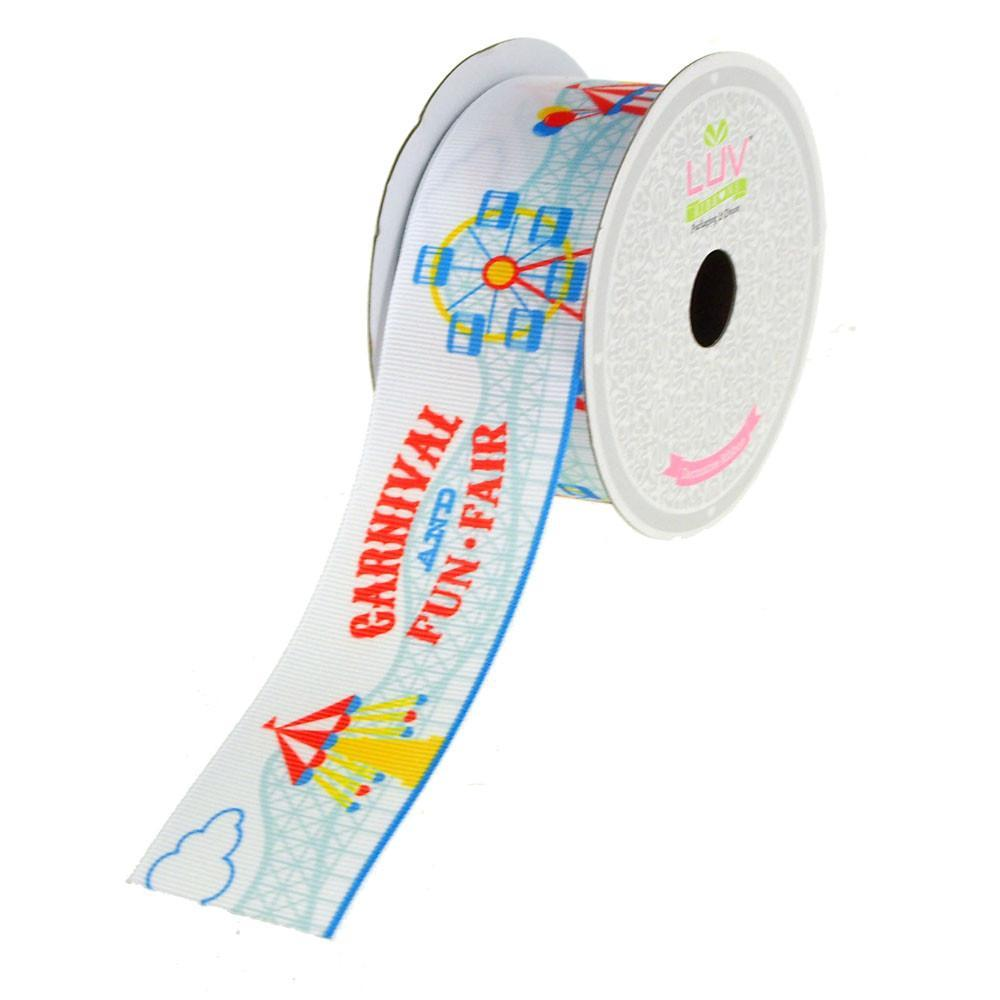 Carnival Fun Fair Grosgrain Ribbon, 1-1/2-Inch, 10 Yards
