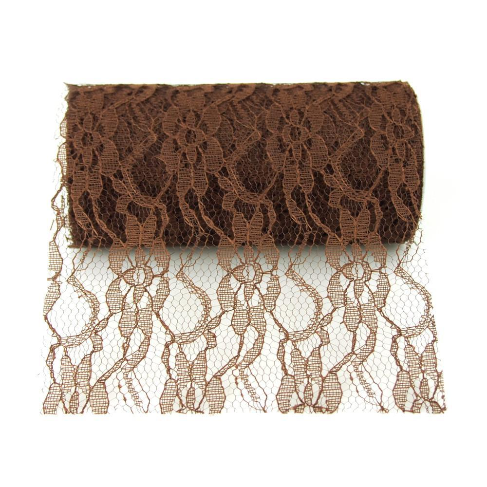 Affordable Lace Roll, 6-inch, 10 Yards, Brown