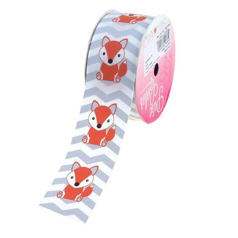 Baby Fox Chevron Grosgrain Ribbon, 1-1/2-Inch, 3 Yards