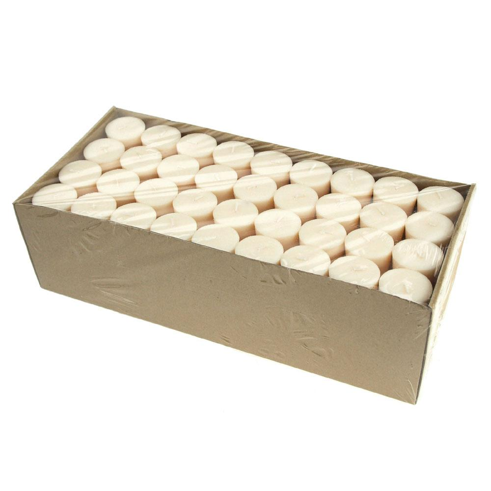 Votive Unscented Candles, 2-Inch, 72-Piece, Ivory