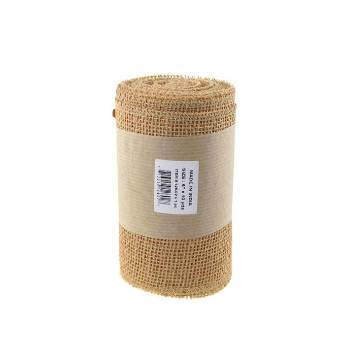 Natural Burlap Rolls Natural Fabric, 6-Inch, 10 Yards