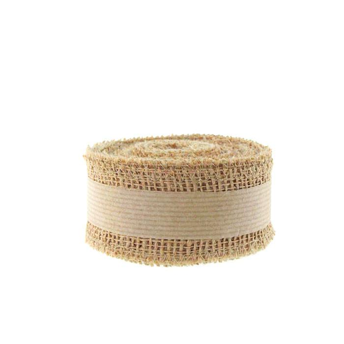 Natural Burlap Rolls Natural Fabric, 2-Inch, 10 Yards