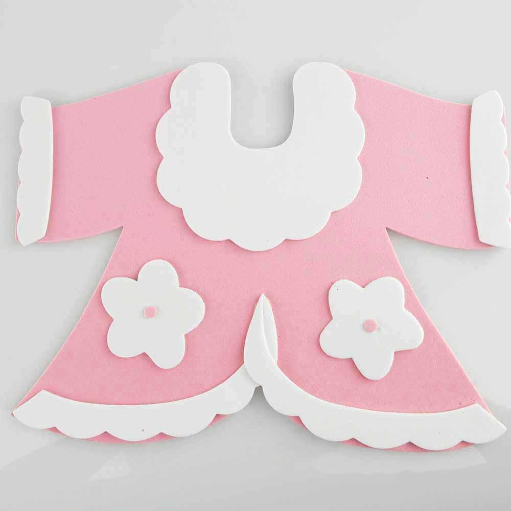 Baby Sweater Foam Decor, 6-Inch, Light Pink
