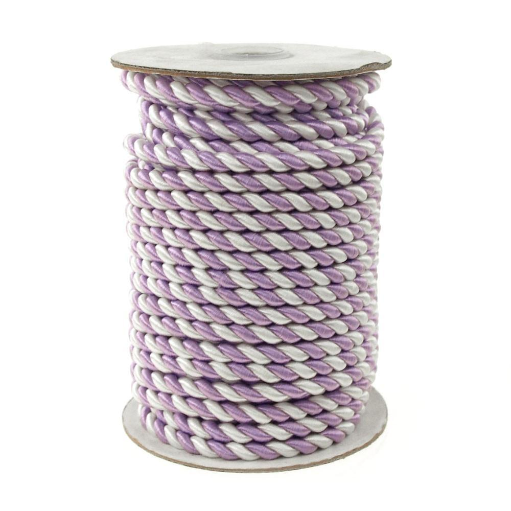 Pastel Twisted Cord Rope 2 Ply, 6mm, 25 Yards, Lavender