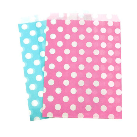 Large Dots Paper Treat Bags, 7-inch, 25-Piece