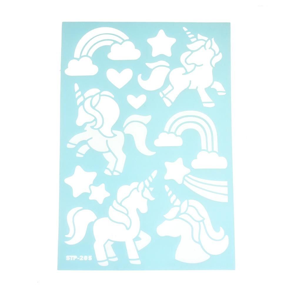 Unicorn & Rainbow Multi-Media Stencil, 11-Inch