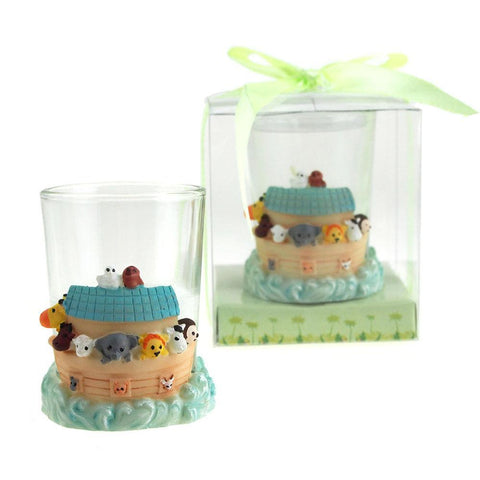 Baby Shower Favor Souvenir, Noahs Ark / Votive Candle. 3-Inch
