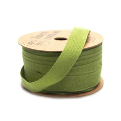 Cotton Linen Blend Fabric Ribbon, 5/8-Inch, 25 Yards