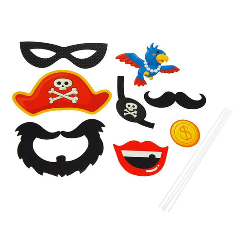 DIY Kid Photo Booth Props, 8-piece, A Pirate's Life