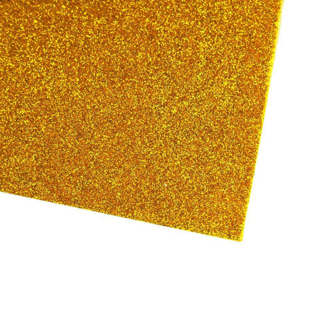 Self-Adhesive Glitter EVA Foam Sheet, 20-Inch x 27-1/2-Inch, 10-Piece, Gold