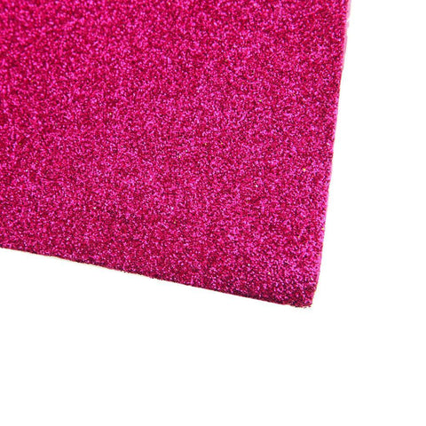 ASelf-Adhesive Glitter EVA Foam Sheet, 20-Inch x 27-1/2-Inch, 10-Piece, Hot Pink