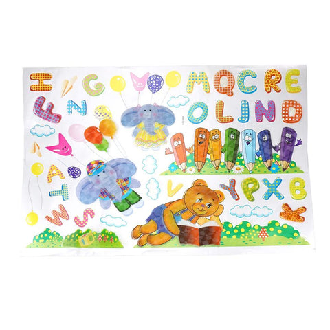 3D Alphabet Kid's Room Wall Art Stickers, Assorted, 40-Piece